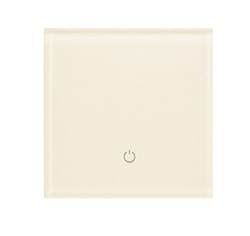 Сенсорный беспроводной выключатель одна зона освещения 1013 White Pearl - фото 1947