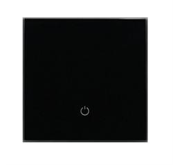 Сенсорный беспроводной выключатель одна зона освещения 9005 Black Classic - фото 1948