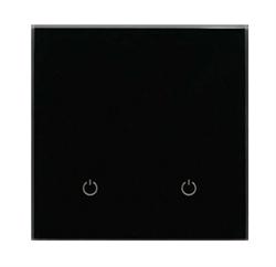 Сенсорный беспроводной выключатель две зоны освещения 9005 Black Classic - фото 1950