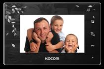 Монитор видеодомофона KCV-A374SD LE чёрный с орнаментом