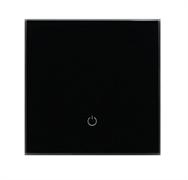 Сенсорный беспроводной выключатель одна зона освещения 9005 Black Classic