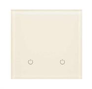 Сенсорный беспроводной выключатель две зоны освещения 1013 White Pearl