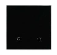 Сенсорный беспроводной выключатель две зоны освещения 9005 Black Classic