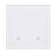 Сенсорный беспроводной выключатель две зоны освещения 9003 White Pure