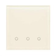 Сенсорный беспроводной выключатель три зоны освещения 1013 White Pearl