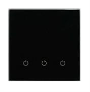 Сенсорный беспроводной выключатель три зоны освещения 9005 Black Classic
