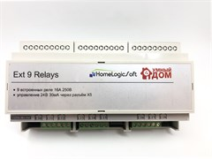 Дополнительный релейный блок на 9 реле 230В 16А EasyHomePLC 9 Relay